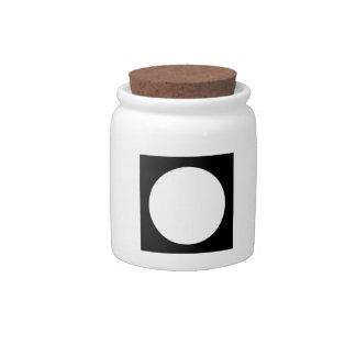 Black and White Circle, Simple Geometric Design. Candy Jars