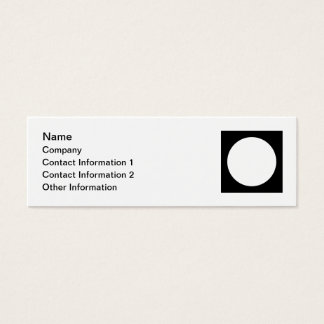 Black and White Circle, Simple Geometric Design. Mini Business Card
