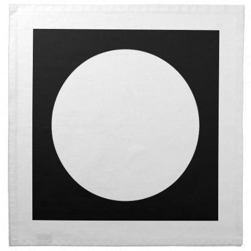 Black and White Circle, Simple Geometric Design. Cloth Napkins