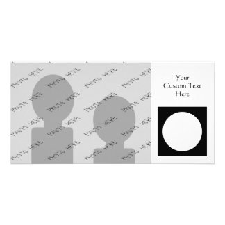 Black and White Circle, Simple Geometric Design. Personalized Photo Card