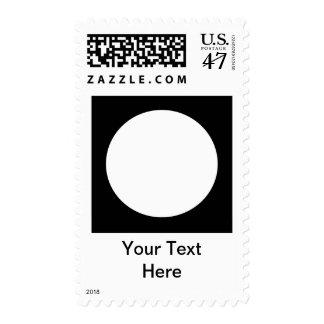 Black and White Circle, Simple Geometric Design. Stamp