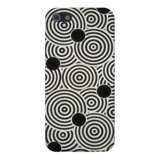 """""""Black and White Circles"""" cell phone cover Case For iPhone 5/5S"""