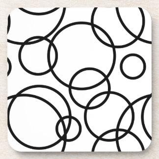 Black And White Circles Coaster