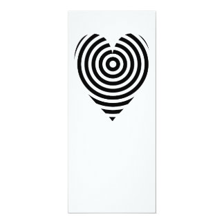 Black and White Circles Heart Card