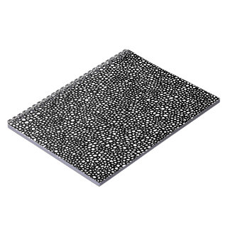 Black and White Circles Mosaic Note Book