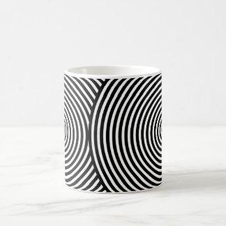 Black and White Circles Coffee Mug