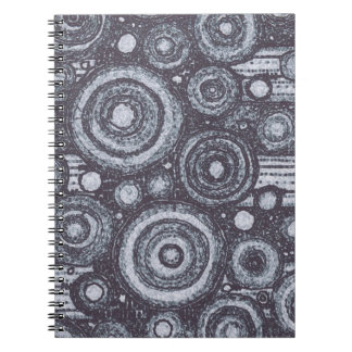 Black and White Circles Notebook