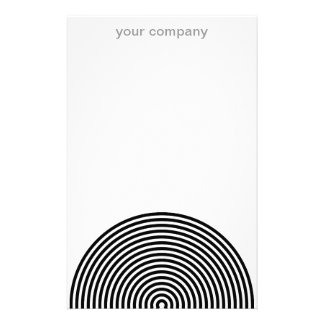 Black and White Circles Stationery Paper