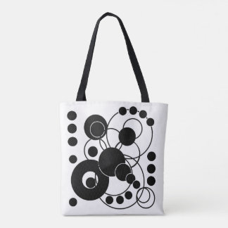 Black and White Circles Tote Bag