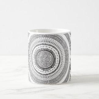 Black and white Circular Pattern Design Mug
