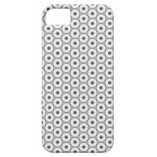 Black and White Circular Pattern iPhone SE/5/5s Case