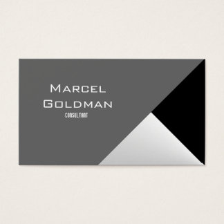 Black and white city finance business card
