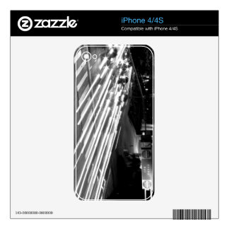 Black And White Cityscape 11 Decal For iPhone 4