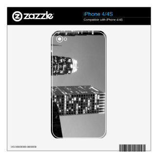 Black And White Cityscape 12 iPhone 4S Skin