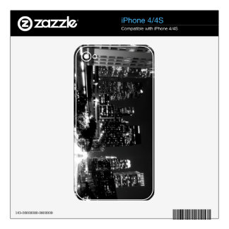 Black And White Cityscape 14 iPhone 4S Decal