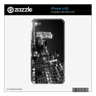Black And White Cityscape 17 iPhone 4S Decal