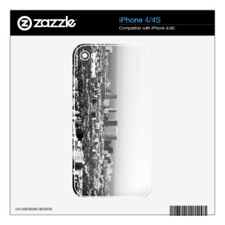 Black And White Cityscape 1 Skin For The iPhone 4S