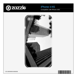 Black And White Cityscape 4 Skins For iPhone 4