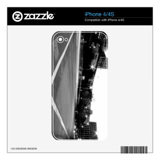 Black And White Cityscape 6 Decals For iPhone 4S