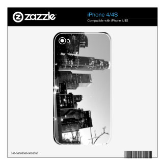 Black And White Cityscape 7 Skins For iPhone 4
