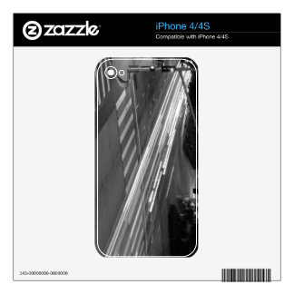 Black And White Cityscape 8 Decal For The iPhone 4S