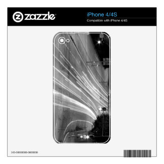 Black And White Cityscape 9 Decal For The iPhone 4