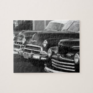 Black and white classic cars jigsaw puzzles