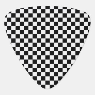 Black and White Classic Checkerboard by STaylor Guitar Pick