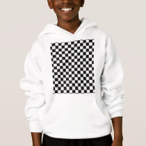 Black and White Classic Checkerboard by STaylor Hoodie