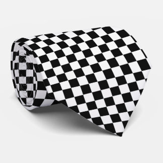 Black And White Classic Checkerboard by STaylor Neck Tie