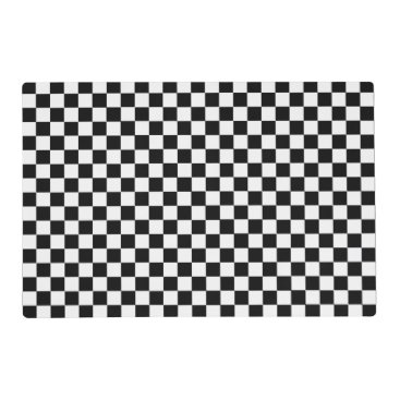 shirleytaylor Black And White Classic Checkerboard by STaylor Placemat