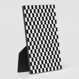 Black and White Classic Checkerboard by STaylor Plaque