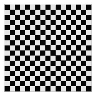 Black And White Classic Checkerboard by STaylor Poster