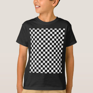 Black and White Classic Checkerboard by STaylor T-Shirt