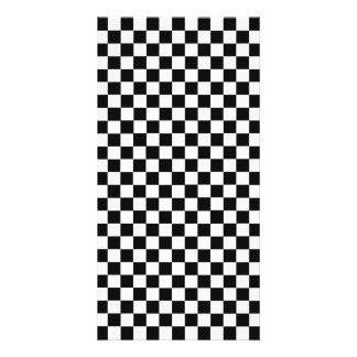 Black And White Classic Checkerboard Card