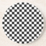 Black And White Classic Checkerboard Drink Coasters