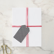 Black And White Classic Checkerboard Gift Tags