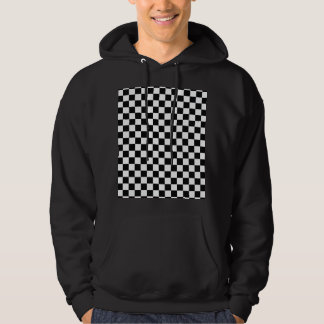 Black And White Classic Checkerboard Hoodie