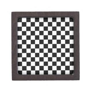 Black And White Classic Checkerboard Jewelry Box