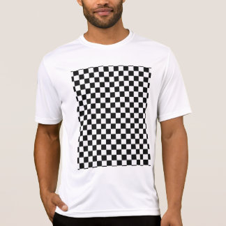 Black And White Classic Checkerboard STaylor T-Shirt