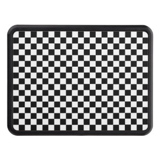 Black And White Classic Checkerboard Tow Hitch Cover
