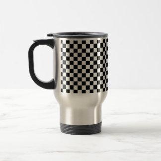 Black And White Classic Checkerboard Travel Mug