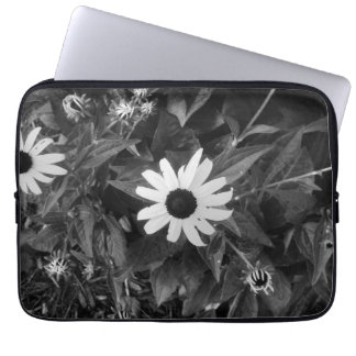 Black and White Classic Flower Computer Sleeve