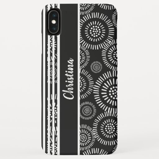 Black and White Classic Pattern  Personalised iPhone XS Max Case