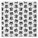 Black and White Classic Vintage Sea Turtles Design Poster