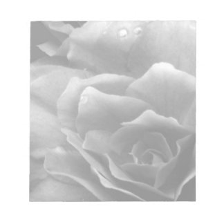 Black and White Close Up of a Double Begonia Notepad