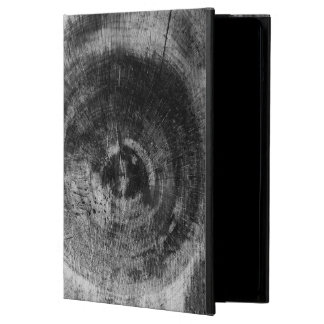 Black and white close up tree texture case for iPad air