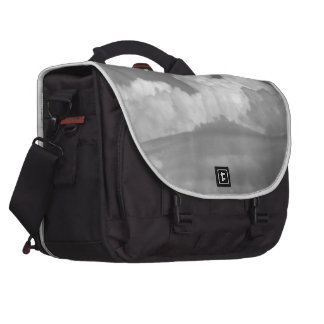 Black And White Cloud 1 Laptop Messenger Bag