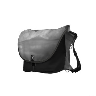 Black And White Cloud 1 Messenger Bags