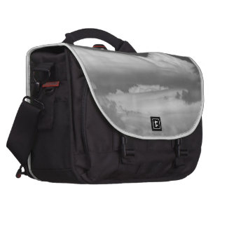 Black And White Cloud 3 Computer Bag